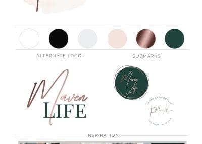 The Maven Life Brand Board JPG