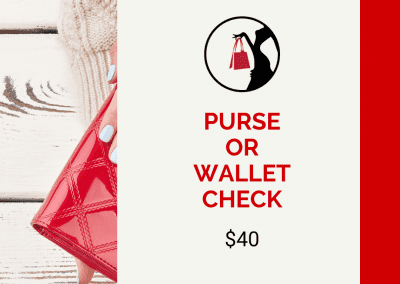 purse or wallet check graphic